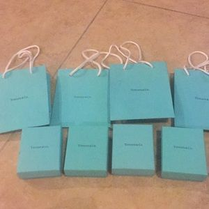 Tiffany & Company 8 bags and boxes set